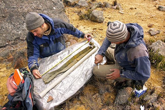 GASP-2 bog core, Peruvian Andes