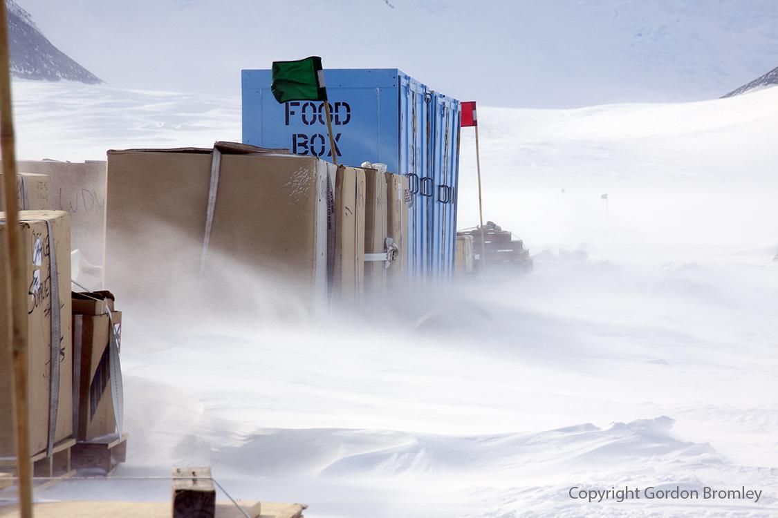 cargo line at Shackleton Camp, Antarctica