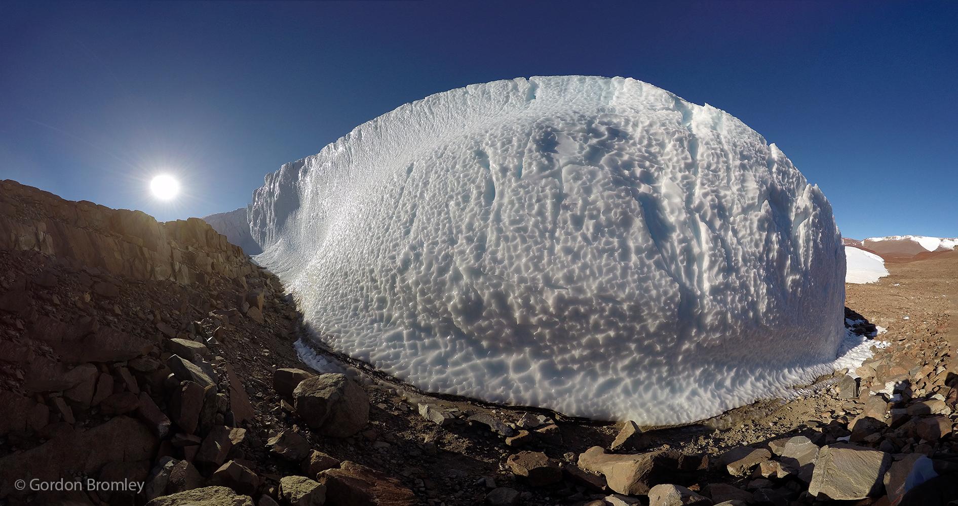 ice cliffs at Roberts Massif