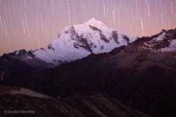 star trails, Cordillera Blanca
