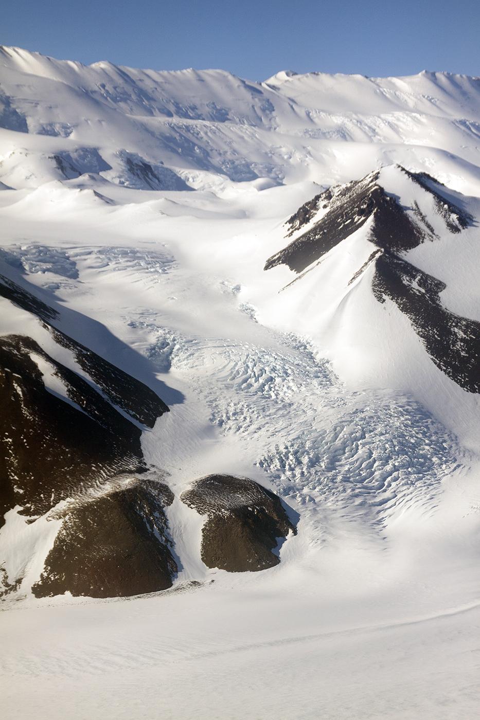 above Shackleton Glacier