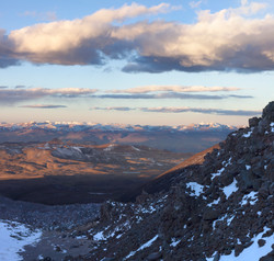 eastward across the Andes from 5000 m