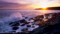 sunset on Mount Desert Island