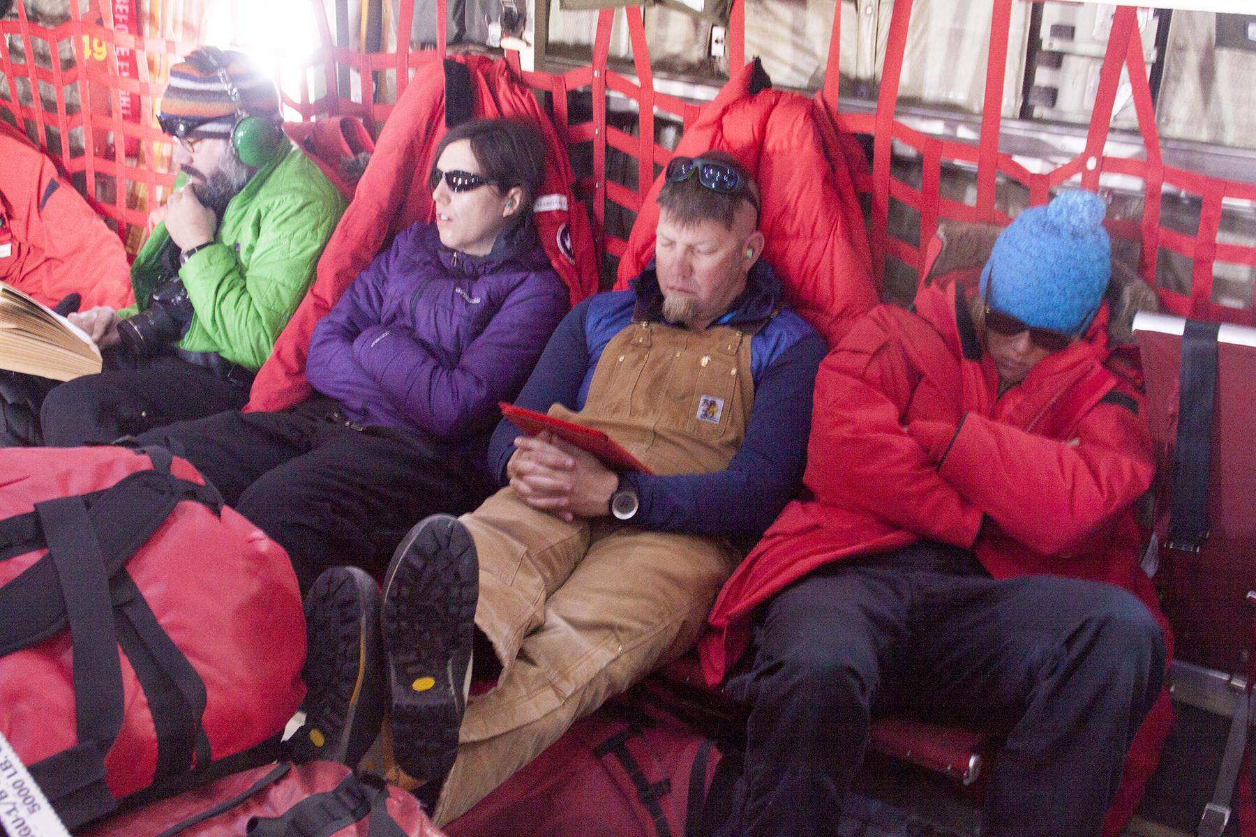 en route to Shackleton Camp