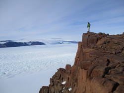 above Shackleton Glacier