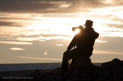 Bear Man at sunset