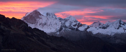 red sky at night, Cordillera Blanca