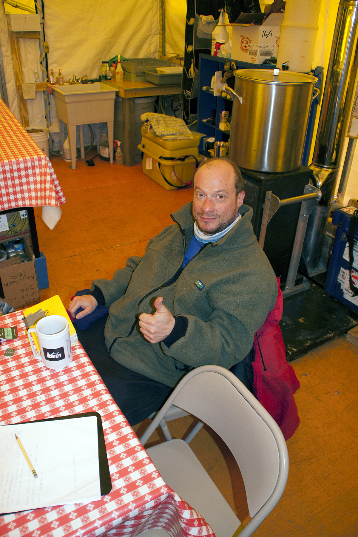 Mike, waiting at Shackleton
