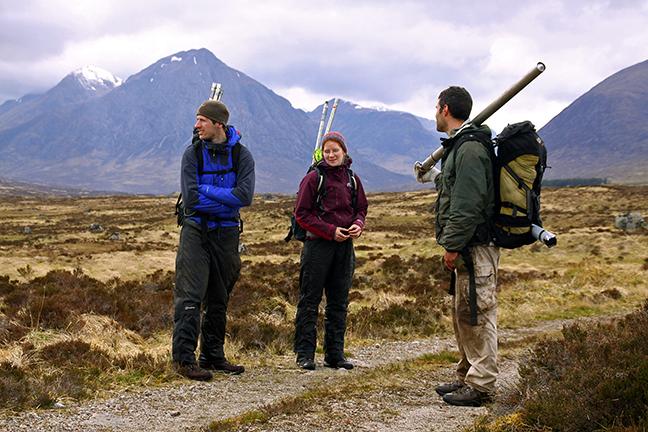 en route to coring Rannoch Moor