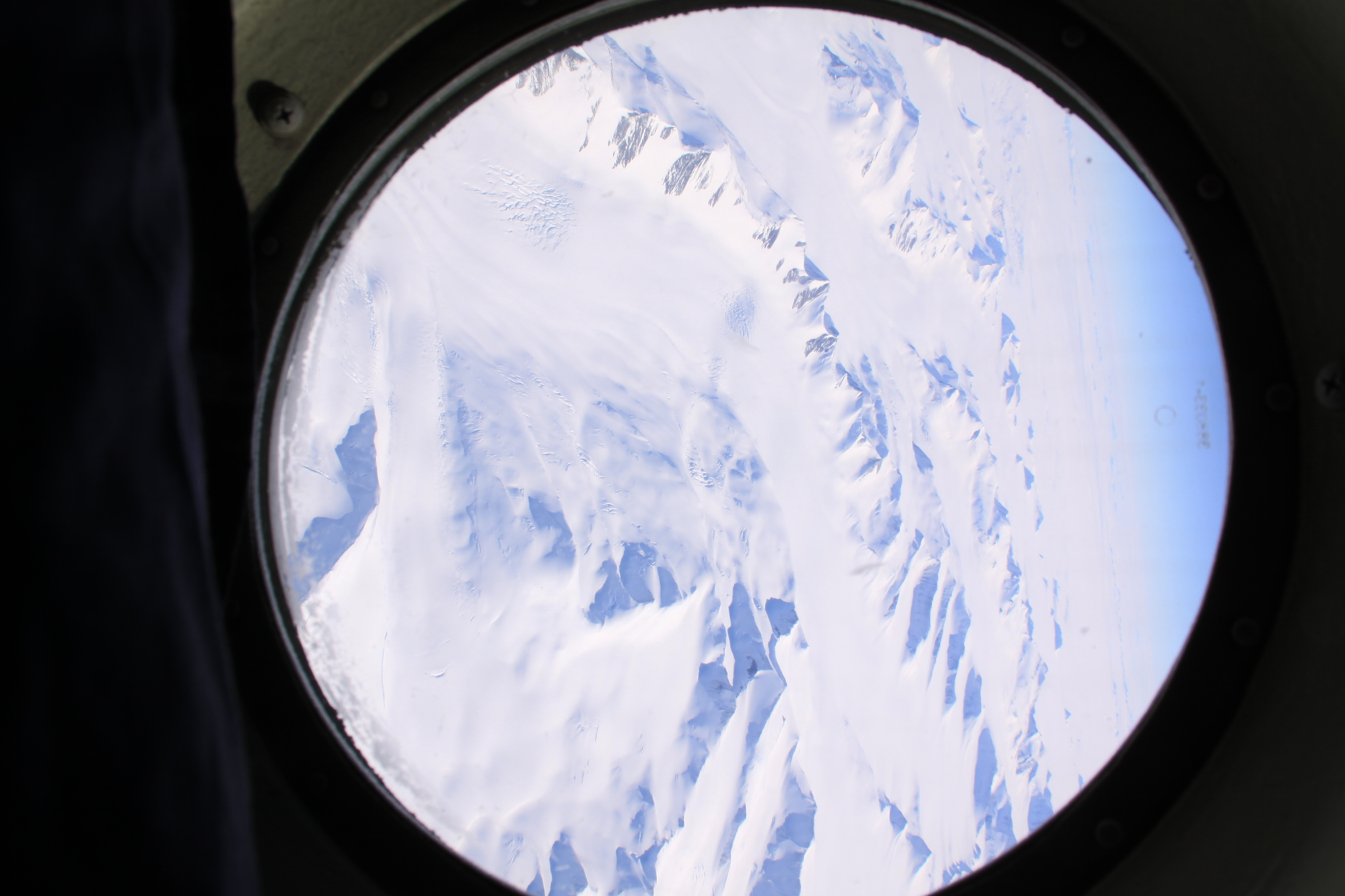 First sight of Antarctica