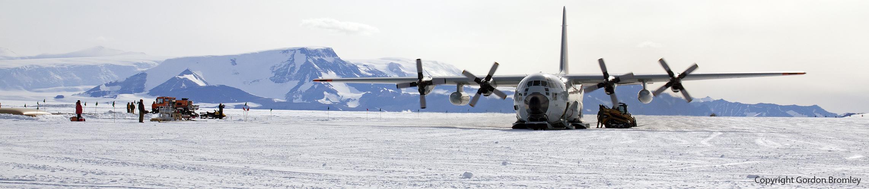 refueling at Shackleton Camp