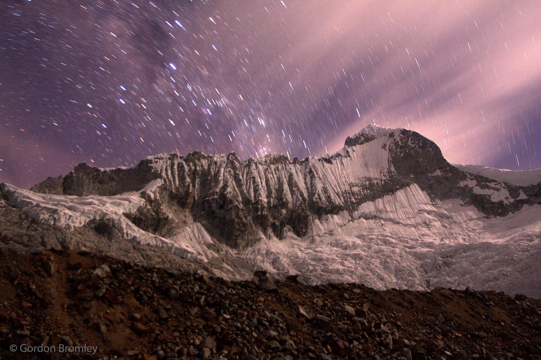 Huandoy Sur por la noche