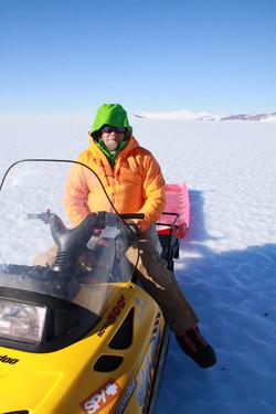 Chris at landing site