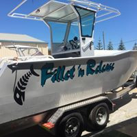 Boat decal lettering & picture design