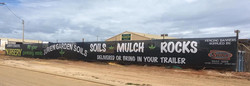 Banner mesh fence signage