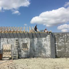 Nursery Progress - Roof going on.JPG