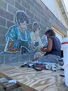 Mural progress - Lanelle working.jpg