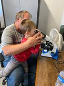 Leo and Grandaddy Microscope.jpg