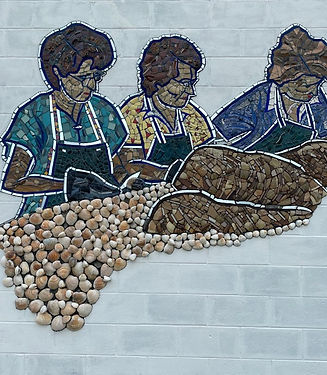 Mosaic Mural Honoring our Fishing Herita