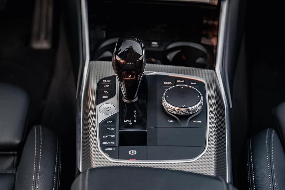 BMW 330e gear shifer