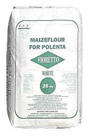 FARI0020 AFP FIORETTO FARINE DE MAIS BLANCHE POUR POLENTA WHITE MAISFLOUR 25KG