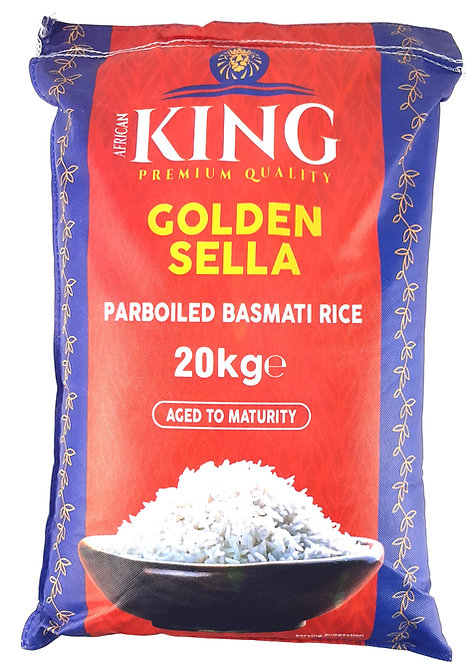 RICE0090 AFRICAN KING RIZ BASMATI GOLDEN SELLA 20KG