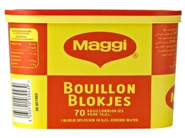 BOUI0013 MAGGI BOUILLON CUBES 70PC DUTCH LABEL 6X280G