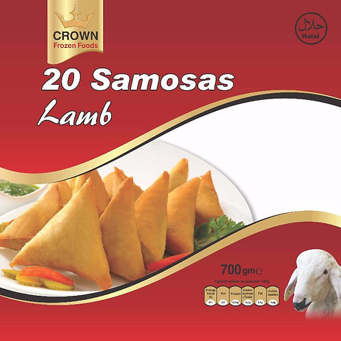 FARI0146 CROWN SAMOSA LAMB 15X20PC