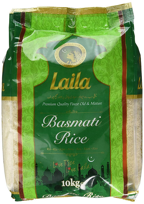 RICE0032-0071-0036 LAILA RIZ BASMATI GREEN BAG 5-10-20KG