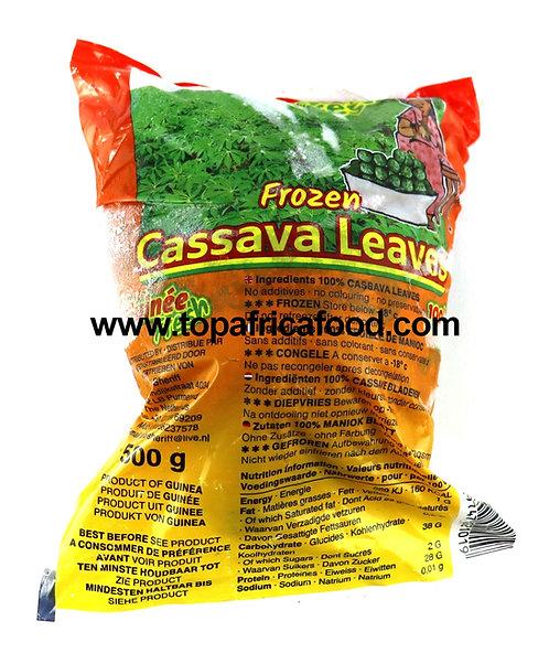 LECG0173 GUINEA FRESH CASSAVA LEAVES PONDU (30X500G) 15KG