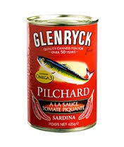 PCON0025 GLENRYCK PILCHARDS TOMATE PIQUANTE SPICY (FR LABEL) 400G