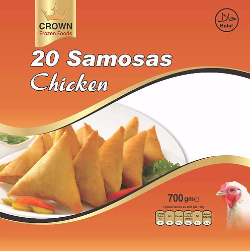 FARI0147 CROWN SAMOSA CHICKEN 15X20PC