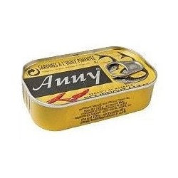 PCON0008 ANNY SARDINES A L'HUILE EPICEE SPICY (FR LABEL) 125G