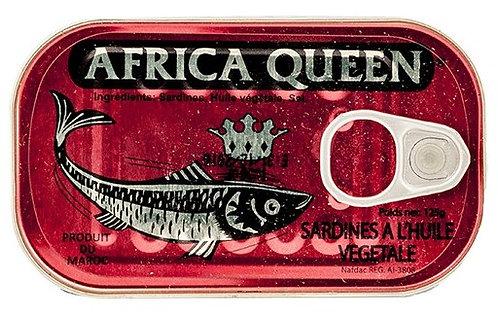PCON0031 AFRICA QUEEN SARDINES 125G