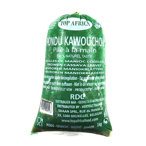 LECG0121 TOP AFRICA FEUILLES DE MANIOC PONDU RDC KAWOUCHOU 1KG