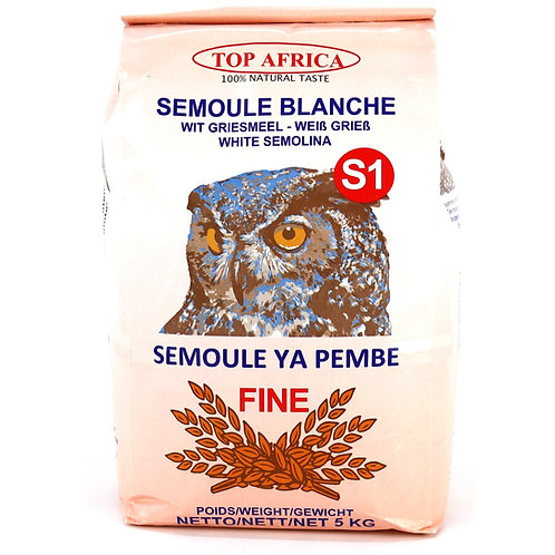 FARI0267 TOP AFRICA SEMOULE BLANCHE FINE S1 5KG