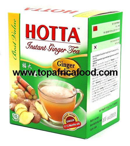 THES0036 HOTTA GINGER TEA CANE SUGAR (GREEN BOX) 10X11G