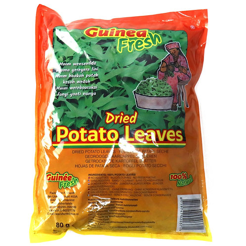 LEFR0176 GUINEA FRESH DRIED POTATO LEAVES 80G