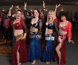 Bluefire Bellydancers at a Community Festival