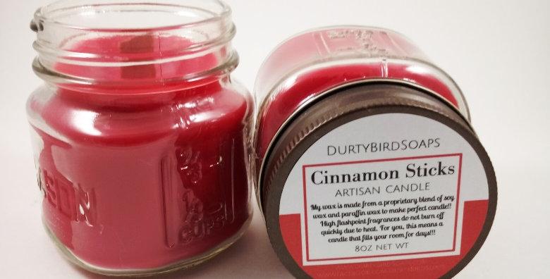 Cinnamon Sticks Rustic Artisan Candle