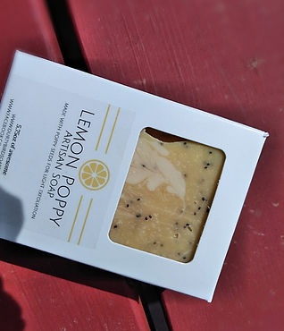 lemon poppy artisan soap