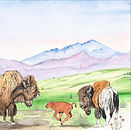 wes-olson_First-Gallop-Bison-Calf_28x22_