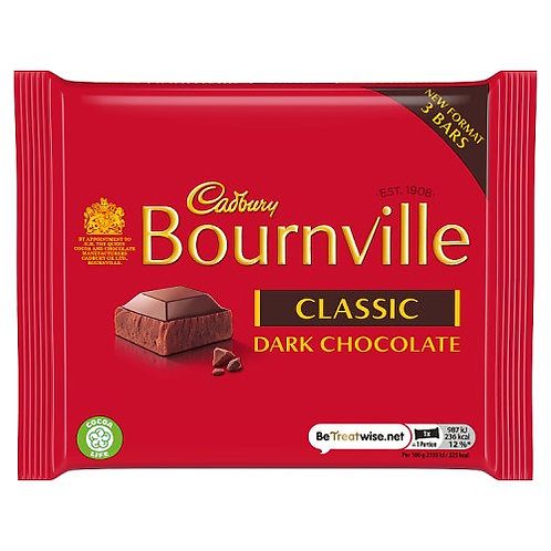 Bournville Dark Chocolate 3pk 135g