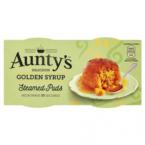 Aunty's Golden Syrup Steamed Pud 2pk