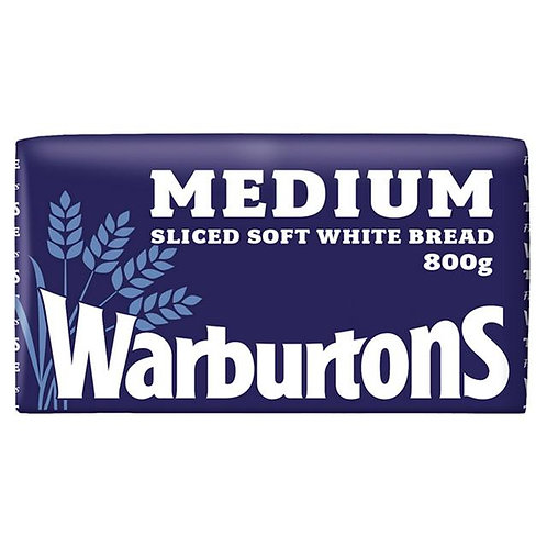 Warburtons Medium White Bread 800g