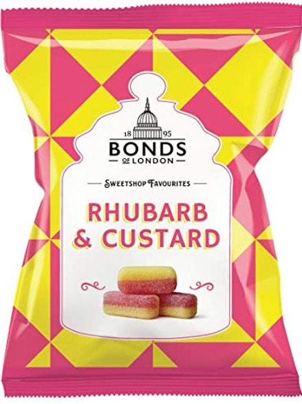 Bonds Rhubard & Custard Bags 100g