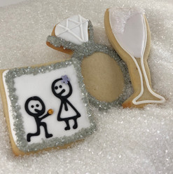 Engagement Iced Cookies