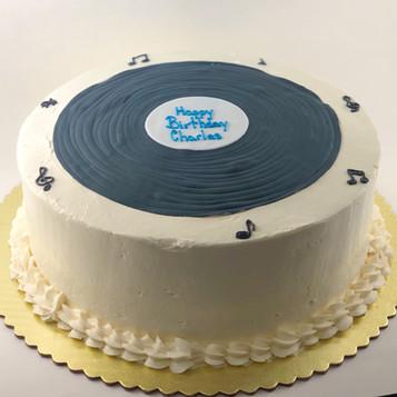 Vinyl Record Birthday Cake