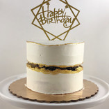 Gold Faultline Birthday Cake
