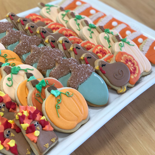 Fall Thanksgiving Iced Cookies